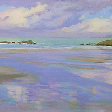Santander . Windy evening. Acrylic on canvas. 150 x 50cm.*
