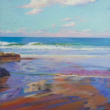 "Sunset in  ""The camel's beach"", Santander. 100 x 81 cm*"