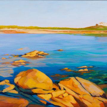 Playa de los militares. Galicia. 80x40cm. Acrylic on canvas.