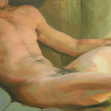 The body and the light. 92 x 73cm. Oil on canvas.