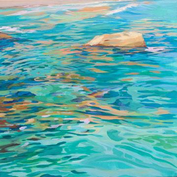 Aguas mediterráneas. 70 x 70cm.*Acrílico sobre lienzo.