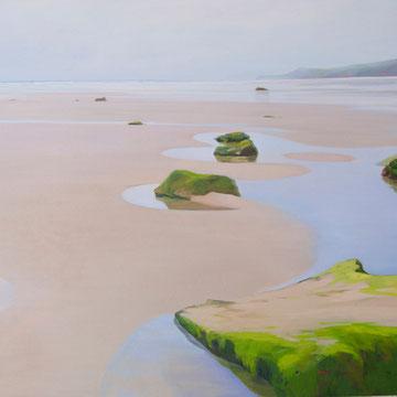 Raining in Gerra. Santander. 100 x 81 cm. Acrylic on canvas.