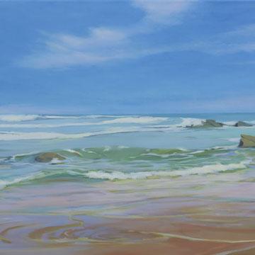 Liencres beach. 100 x 50 cm.