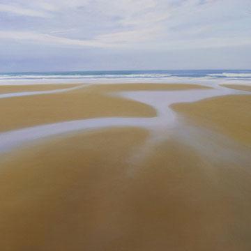 Oyambre, low tide. 100 x 81 cm.Acrylic on canvas.