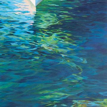 Remembering Siros. Acrylic on canvas. 81 x 130cm.