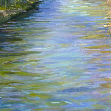 La Bajada del rio. 100 x 81 cm.*