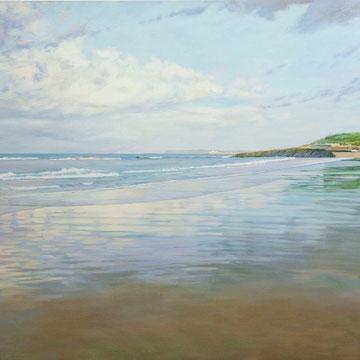 Playa del Sardinero. 162 x 130cm. Óleo sobre lienzo.