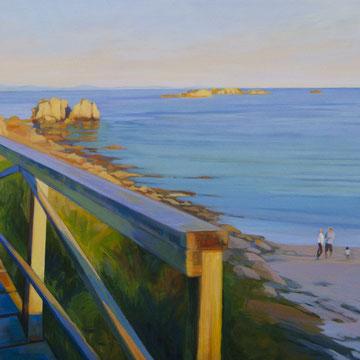 Paseo de las Tablas . San Vicente do Mar. Galicia. 148x90cm. Acrylic on canvas.