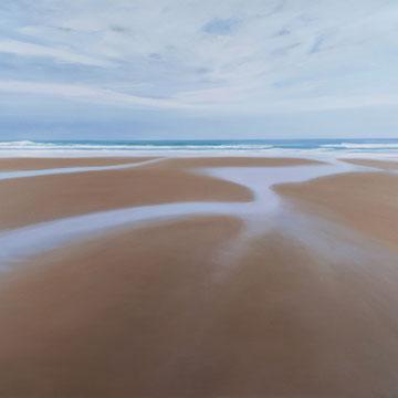 Oyambre, marea baja. Santander. 100 x 81 cm. Acrílico sobre lienzo.