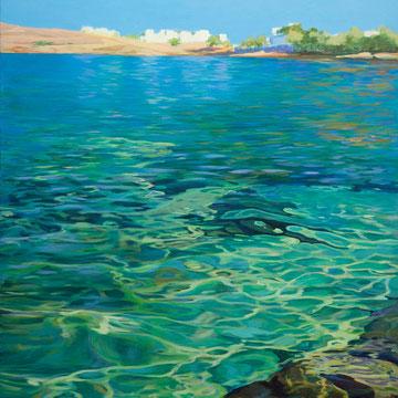 Siros. Acrylic on canvas. 100 x 81 cm.*