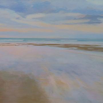 Sunset, 130 x 60 cm. Acrylic on canvas.