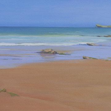 Playa de Liencres. Santander. 90 x 40 cm. Acrílico sobre lienzo.