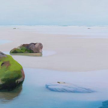 Playa de Gerra. Santander. Acrílico sobre lienzo.