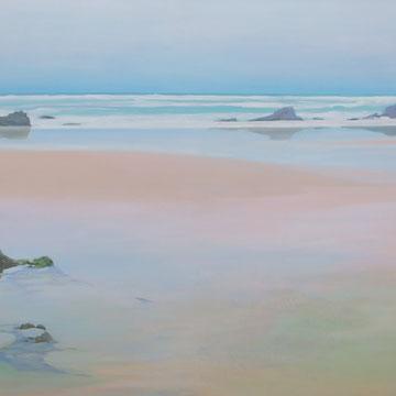Liencres. Santander. Acrylic on canvas. 100x 50cm.