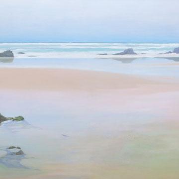 Playa de Liencres. Santander. 100 x 50 cm. Acrílico sobre lienzo.