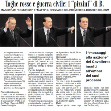 "berlusconi (da ""il fatto quotidiano"" 23/01/2010)"