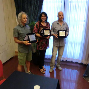 2° Premio  Art Immagine Feste Vigiliane  Luglio 2012 presso Hotel Trento - Trento  - con gli altri Vincitori