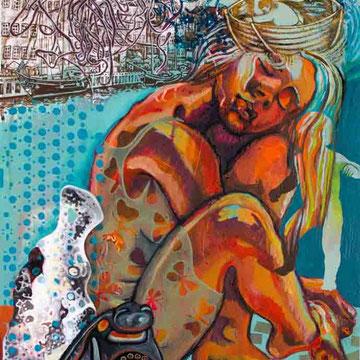 """""""Orte 2"""" Acryl auf Holz (47x72) 2015"""