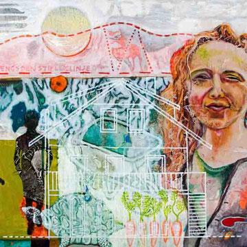 """Orte 1"" Acryl auf Holzfaser (40x70) 2015"