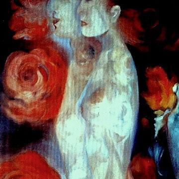 """""""Das Weibliche, das Männliche"""", Ölfarbe auf L. 100x81 cm"""