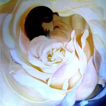 """""""Die Weisheit der Weiblichkeit"""" Wir sollten die weiblichen Eigenschaften wertschätzen und entfalten + sie nicht unterdrücken. Die Rose = im Menschen schlummernde Seelenpersönlichk., die auf ihre schrittweise Entfaltung wartet."""