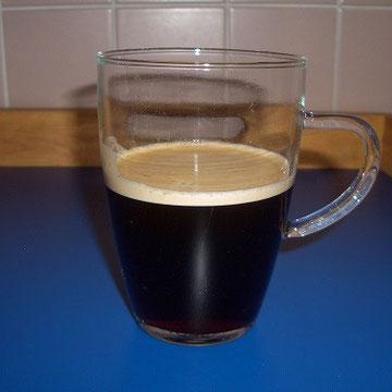 frisch aus der Kaffeemaschine