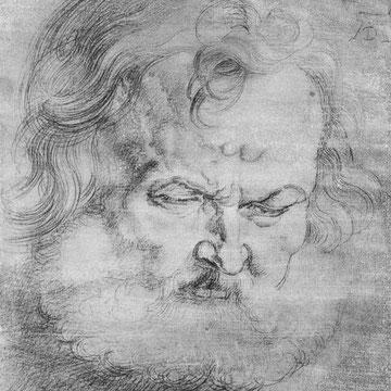 """Studie zu den """"Vier Aposteln"""": Kopf des Petrus"""