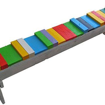 """""""nuova funzione"""" acrilici su legno cm45x24x200"""