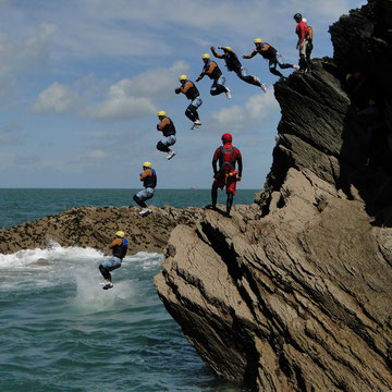 Coasteering session
