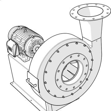 soplador industrial de alto rendimiento tipo NYB
