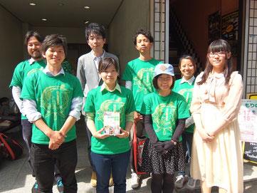 実行委員の皆さん。後ろ左が中田さん、ひとりおいて高橋さん
