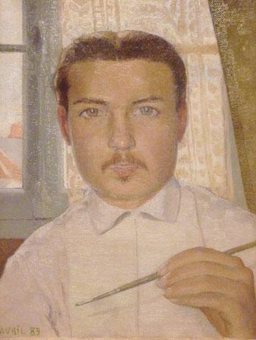 《18歳の自画像》1889年