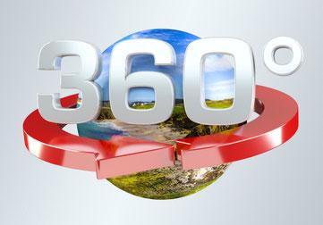 360 Grad Luftaufnahme für den Immobilien Verkauf