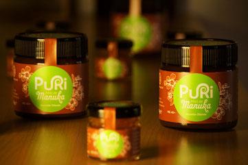 Pot en verre miel de Manuka Puri