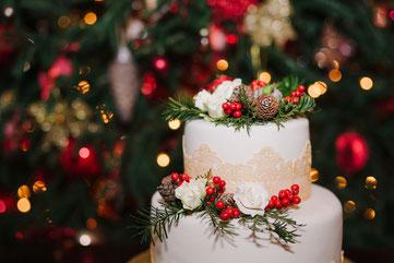 Hochzeitstorte Weihnachtshochzeit