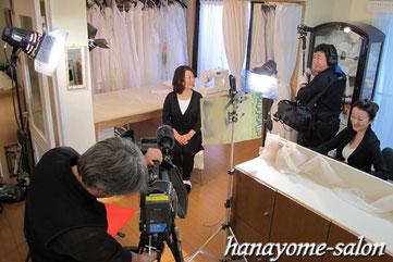 テレビ 取材 ブライダル ウェディング ドレス