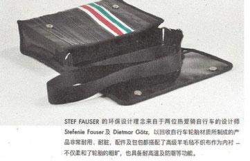 Hersteller für Fahrradschlauchtaschen Stef Fauser Design aus Berlin will auf dem chinesischen Markt Fuß fassen.