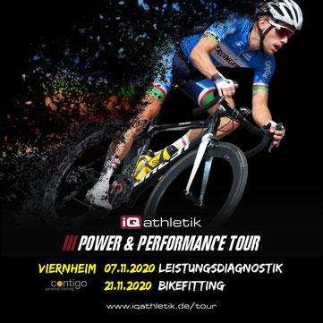Leistungsdiagnostik und Bikefitting in Viernheim - mit der iQ athletik Power & Performance Tour