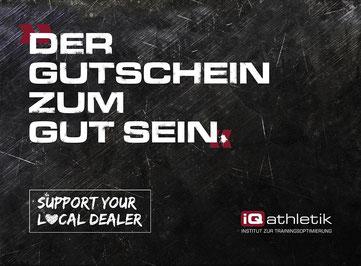 Der iQ athletik Gutschein zum gut sein - für Diagnostiken und Bikefitting