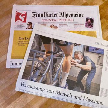 Die FAZ berichtet über Bikefitting bei iQ athletik