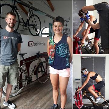 Leistungsdiagnostiker Sebastian Mühlenhoff mit Triathlon-Talent Lisa Tertsch