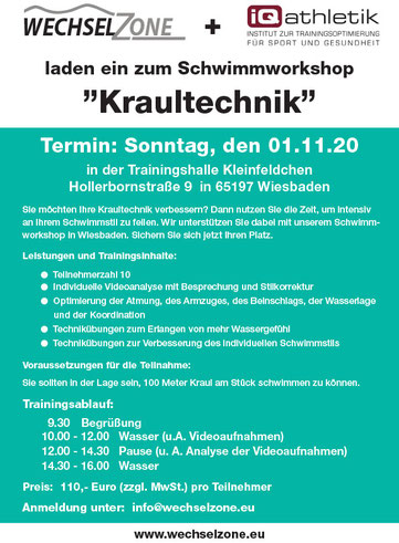 """Alle Infos zum Schwimmkurs """"Kraultechnik"""""""