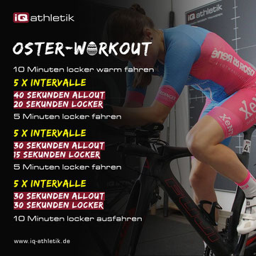 Motivierender Trainingstipp für Oster - das iQ athletik Oster-Workout