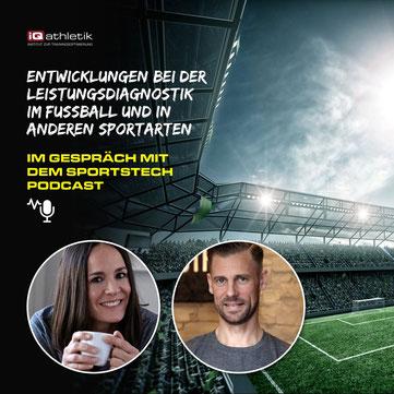 Fee Beyer vom Sportstech Podcast spricht mit Sebastian Mühlenhoff von iQ athletik über Leistungsdiagnostik