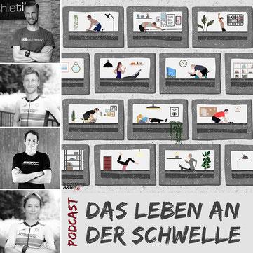 bewegungsARTen Podcast mit iQ athletik Experte Sebastian Mühlenhoff und den leidenschaftlichen Triathleten Gregor Buchholz, Horst Reichel und Eva Buchholz