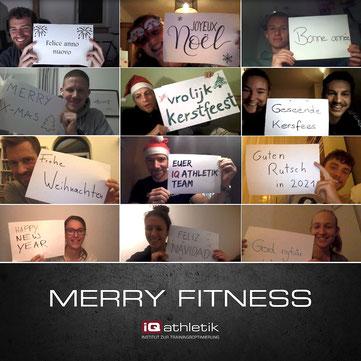 Das iQ athletik Team wünscht frohe Weihnachten und Merry Fitness
