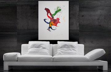 Acrylbilder kaufen - Wandbilderkunst.de - Gemälde in Purple, Violettrot, Schwarz, Weiß und anderen Akzenten