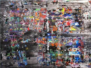 "Burk Art Gemälde ""Interferenz"", Unikat"