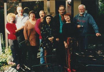Abs Van Berkum Présidente du musée, et quelques amis exposants