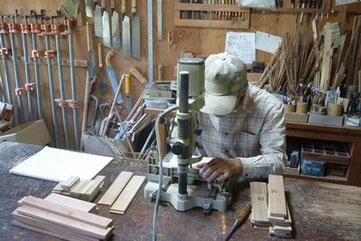 そりの小物入れ製作 木象嵌